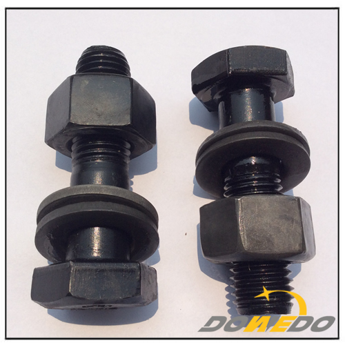 Black Hexagonal Bolt Nut Washer