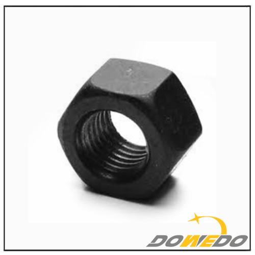 DIN934 Grade 2 5 8 Black Heavy Hex Nut