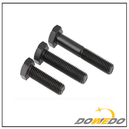 Black Fastener Hex Head Bolt