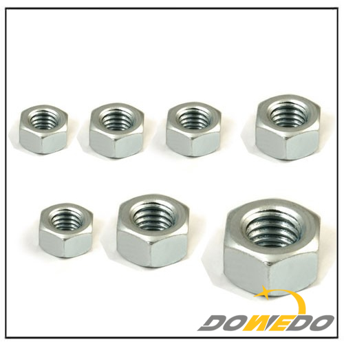 Galvanized Carbon Steel Hex Head Screw Nuts