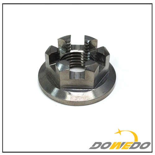 Hex Flange Slotted Castle Nut