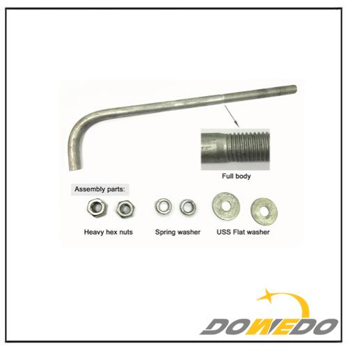 Zinc Plated Steel J-Bolt