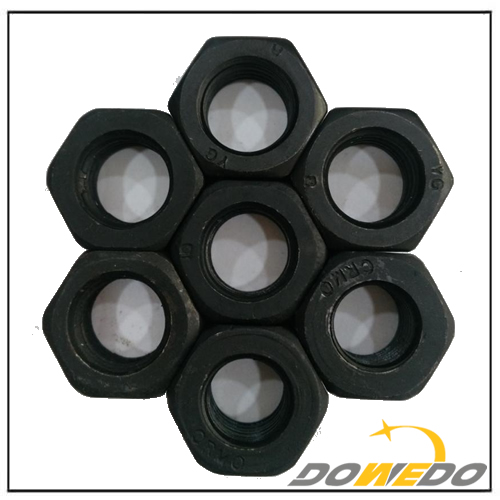 ASTM A563M Black Carbon Steel Heavy Hex Nut for Structural