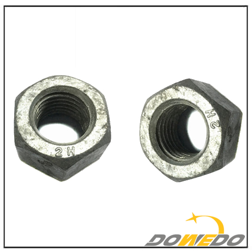 Hot Dip Galvanized HDG Heavy Hex Nut ASTM A563