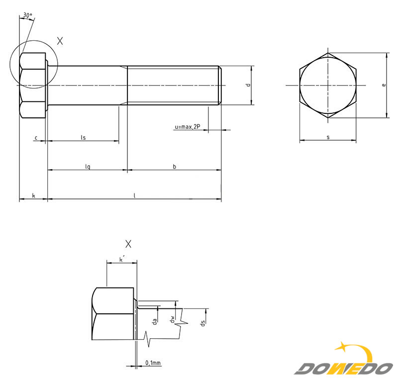 DIN 6914 High-strength Injection Structural Bolts dia