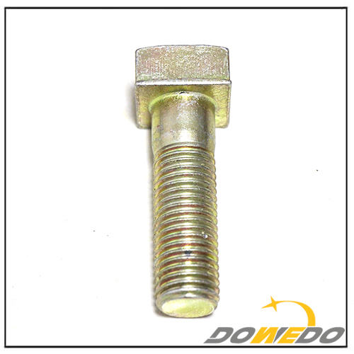 Yellow Galvanized Bolt
