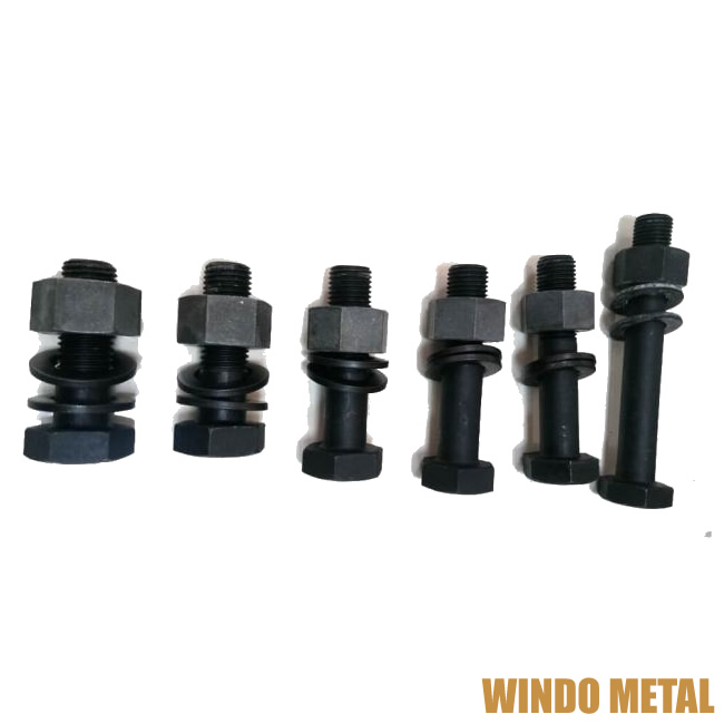 Carbon Steel Material High Strength Hex Head Bolt with Washers and Nut