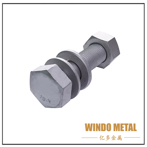 Heavy hex head structural bolt and nut