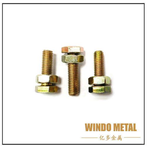 Hing Strength Yellow Zinc Plated Hex Head Bolt